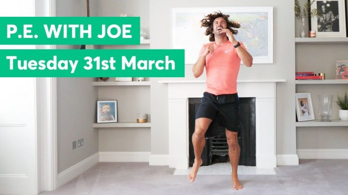 Daily Joe Wicks PE Lessons   All ad revenue heading to the NHS