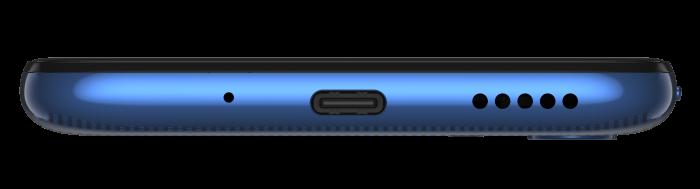 moto g8 ROW Neon Blue BOTTOM