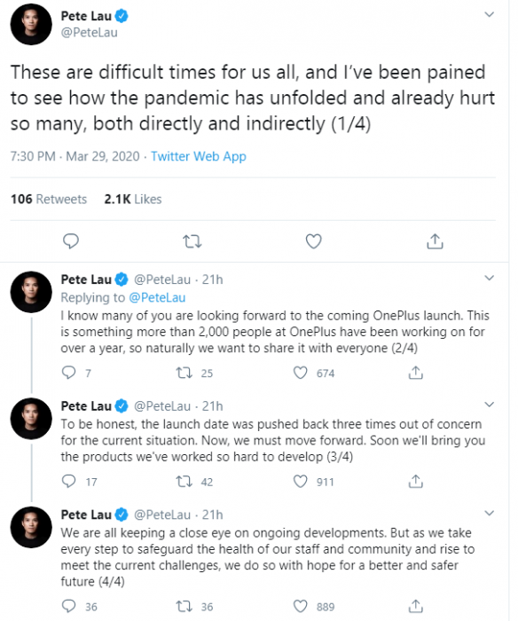 OnePlus 8 Series launch. No more delays   event due April 14th