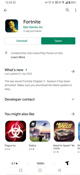 Fortnite finally available on Google Play