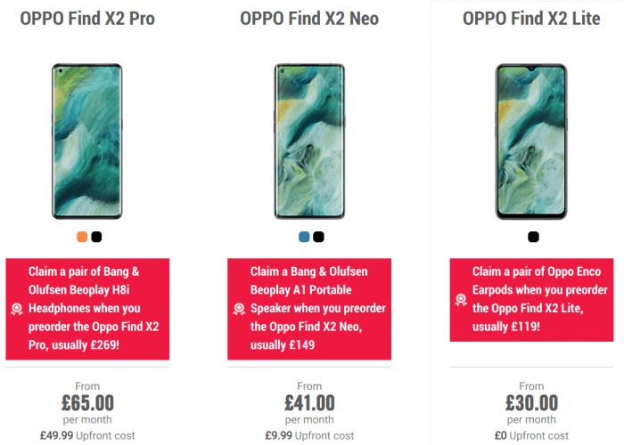 Carphone Warehouse announce pre orders for new Oppo phones