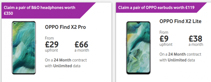 Oppo X2 Pro and Oppo X2 Lite coming to Vodafone