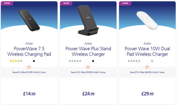 Anker reduce prices on Wireless Chargers