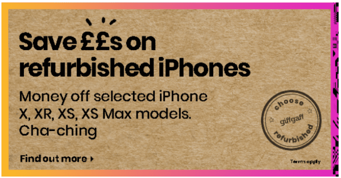 Why buy new? gifgaff dishing out some great refurbished phones