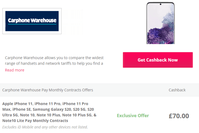 Serious cashback on the latest iPhone and Samsung phones