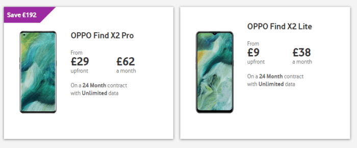 Oppo X2 Pro and X2 Lite arrive on Vodafone