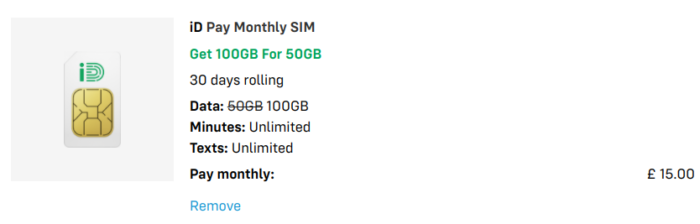 Fancy a contract free £15 plan with 100GB of monthly data?