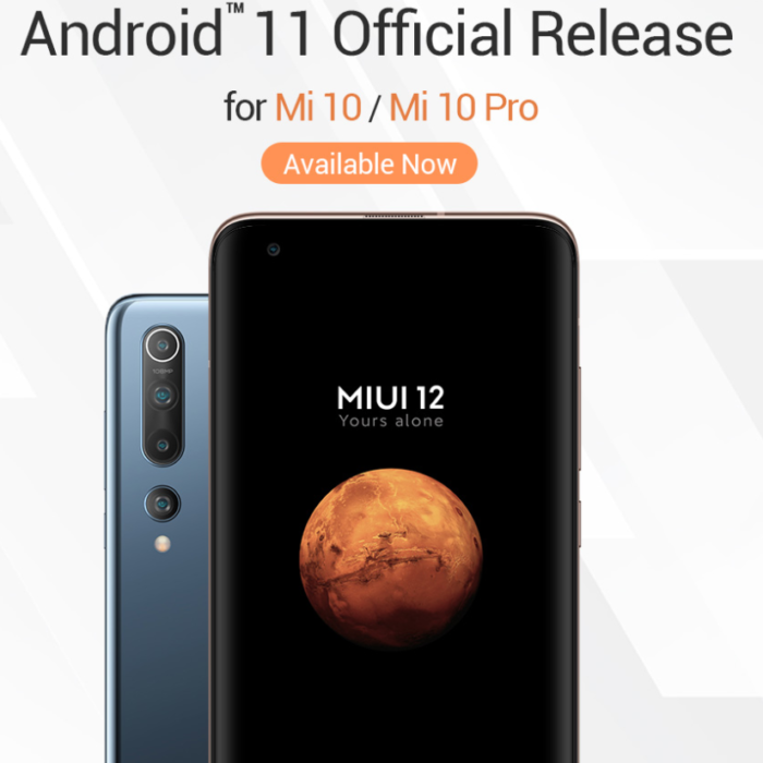 Xiaomi drop Android 11 onto the Mi 10 and Mi 10 Pro