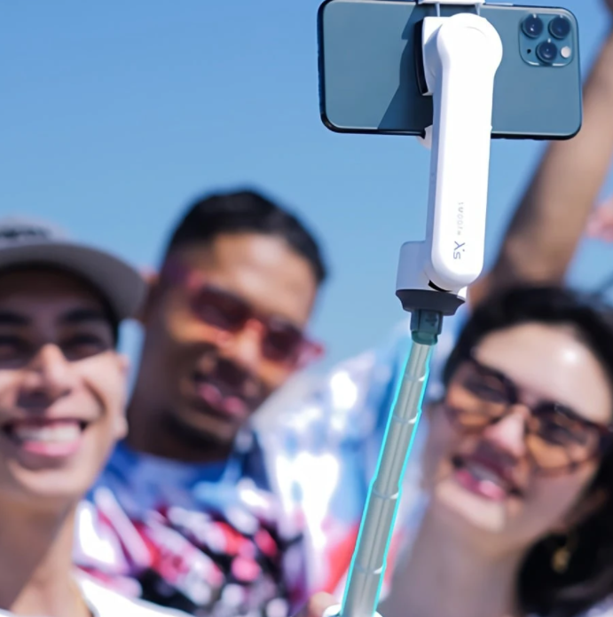 A selfie stick thats also a pocket sized gimbal