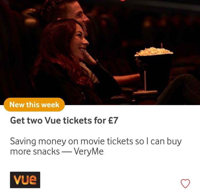 VeryMe brings two cinema ticket deal back