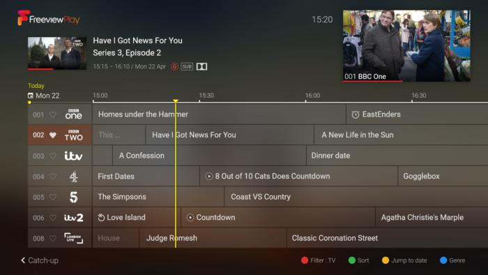 Humax AURA TV Guide