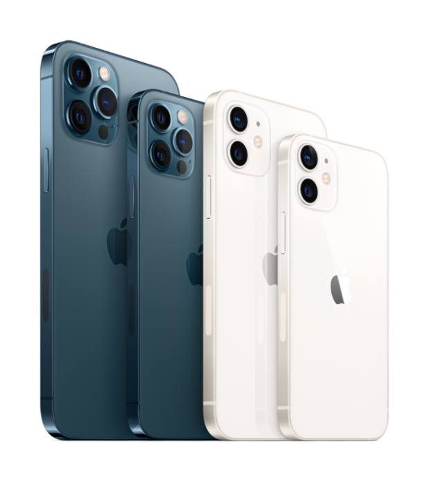 iPhone12 family lineup blue white 4Up
