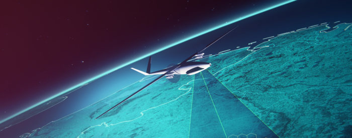 Conceptual image   aircraft in the stratosphere