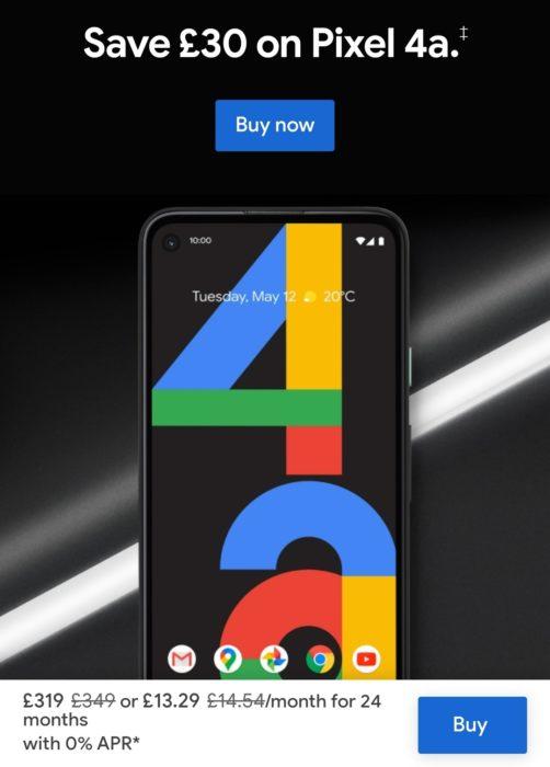 Google Pixel 4a   £13.29 p/m