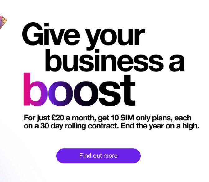 Three to provide a Business Boost