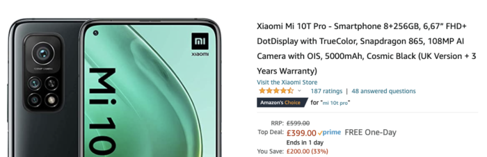 A beast of a phone for less than £400 if you are Quick   Mii 10T Pro