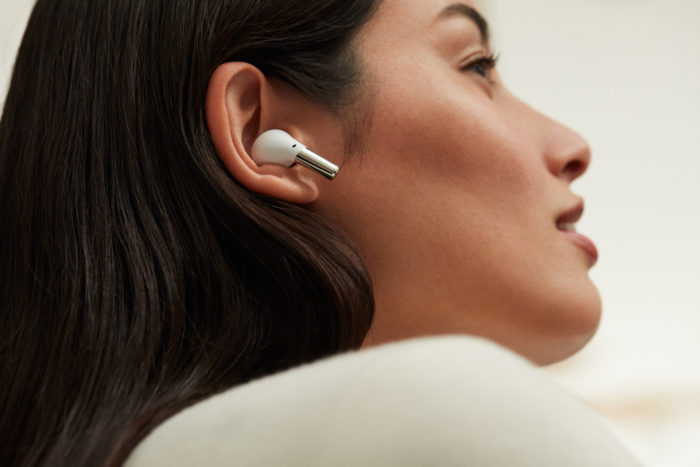 OnePlus Buds Pro white in someone s ears 1